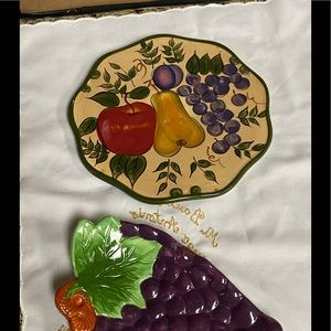 Fruits print trivet and spoon rest